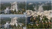 Maradu flat demolition: Building to dust in 5 secs. Video of Kochi tower demolition is jaw-dropping