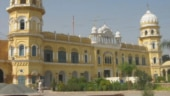 Protests in Jammu against mob attack on gurdwara Nankana Sahib in Pakistan