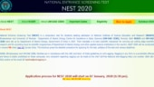 NEST 2020 online registration to begin today, steps to apply