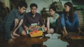The Kim family in a still from Parasite.