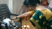 TikTok video of Indian woman putting tilak on cat in frock goes viral. Twitter says pawshirvad lo