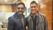 Ajay Devgn shares picture with Mahendra Singh Dhoni, leaves Twitter feeling all kinds of emotions