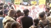 Hundreds march from Mandi House to HRD Ministry, demand removal of JNU V-C
