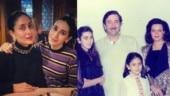 Kareena and Karisma pose with parents Randhir and Babita in throwback pic. Super family, say fans