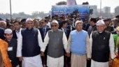 Rift in mahagathbandhan after RJD, Congress leaders extend support to Nitish Kumar's human chain event