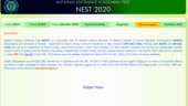 NEST 2020 application process begins, steps to apply