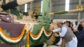 Defence Minister Rajnath Singh flags off 51st K9 VAJRA-T gun from L&T complex in Gujarat