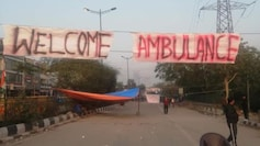 Shaheen Bagh protesters have also put a banner on the road saying