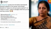 Nirmala Sitharaman shuts down troll after he calls her sweetie. Internet hails the minister