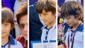 Proud dad Shah Rukh Khan shows off medals Abram won at school races. Pic is Insta-hit