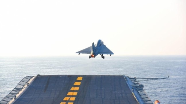 Watch: Naval version of LCA Tejas takes off from INS Vikramaditya, makes history