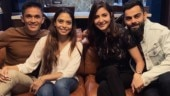 Virat Kohli, Anushka Sharma head to Sunil Chhetri's house for dinner after Bengaluru ODI