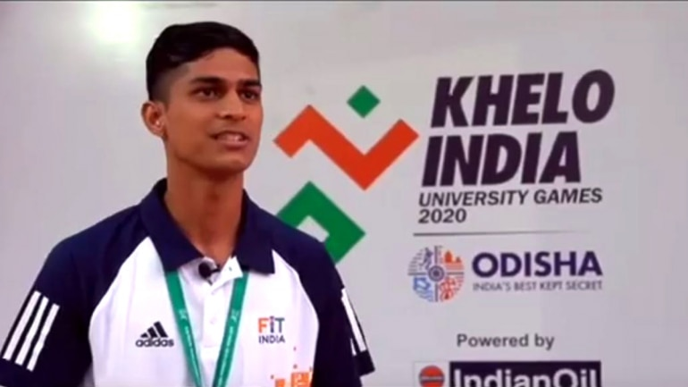ahmed habbab, football, khelo india university games, khelo inida, syria, kiit, scholarship