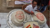 Chennai food artist creates 3 massive 107-kg idlis to welcome Donald Trump