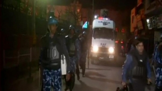 Security forces conduct flag march in violence-hit northeast Delhi