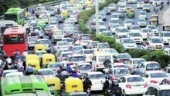 Heavy traffic in Delhi on poll results day