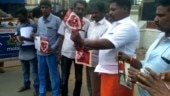 TN: Hindu Sena protests against Valentine's Day in Coimbatore, burn, tear greeting cards