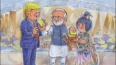 Amul welcomes US President Donald Trump to India with doodle featuring PM Modi. Seen yet?