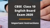 CBSE Class 10th English Board Exam 2020 tomorrow: Check sample paper, instructions and important questions