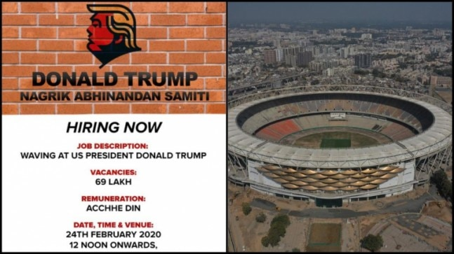 Wave at Donald Trump. Get achhe din. Hiring 69 lac: Check out Congress ad