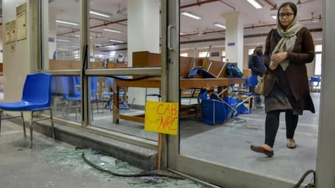 Men in Jamia reading room indulged in stone-pelting, video footage reveals