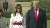 Melania and Donald Trump coordinate clothes on Day 2 of India visit