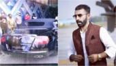 Karnataka Congress MLA's son Nalapad, out on bail, now crashes his luxury Bentley car, injures 4