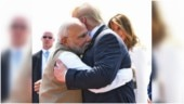 PM Modi welcomes Donald Trump to India with a big hug. Photo breaks the Internet