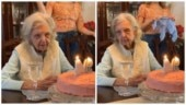 Woman's epic reaction on her 94th birthday celebrations has Internet laughing. Viral video