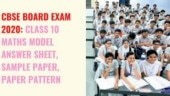 CBSE Board Exam 2020: Check class 10 Maths sample paper, model answer sheet and paper pattern here