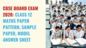 CBSE Class 12 Maths Board Exam: Check important sample paper, model answer sheet and paper pattern here