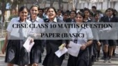 CBSE Class 10 Maths Exam 2020 Question Paper Basic