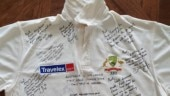Another treasure: Ricky Ponting shares pictures of signed shirt after maiden Test as captain