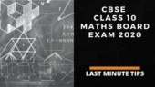 CBSE Class 10th Maths Board Exam 2020: Check tips, important instructions for Mathematics Standard and Mathematics Basic