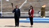 Olympic flame greeted with empty stadium on Greece arrival amid growing coronavirus concerns