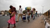 Hit by lockdown, stranded on roads: Migrant labourers walk for days to reach home