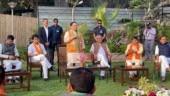 21 rebel Madhya Pradesh MLAs join BJP as Jyotiraditya Scindia accompanies them; 1 to join later