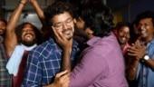 Vijay Sethupathi kisses Vijay as Master shoot comes to an end. See viral pic