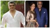 Ajith visits Boney Kapoor at Sridevi's Chennai residence. Watch video