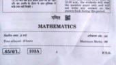 CBSE Class 12 Maths board exam 2020: Check Class 12 Maths question paper here