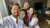 Hardik Pandya celebrates Holi with brother Krunal and fiancée Natasa Stankovic