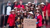 School students in Belgium pose for racist Corona Time pic in Asian attire. Internet is furious