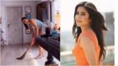 Katrina Kaif picks up a broom after washing dishes amid coronavirus lockdown. Watch hilarious video