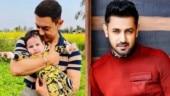 Aamir Khan cuddles Gippy Grewal's son on Laal Singh Chaddha set in Chandigarh. See pics