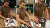 Salman Khan channels his inner painter during coronavirus lockdown. Watch video