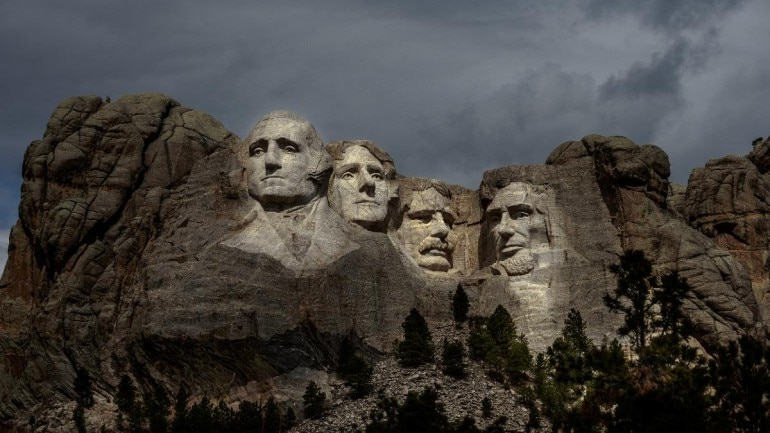 Mount Rushmore in South Dakota is drawing only the occasional handful of visitors. (Photo credit: AFP)