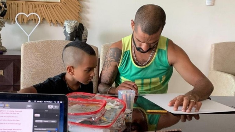 Shikhar Dhawan and his son Zoravar have been entertaining their fans across social media during the Covid-19 lockdown