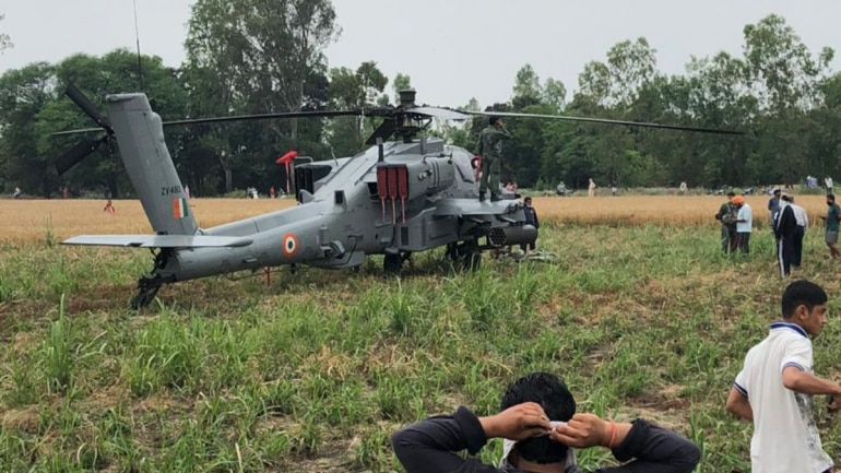 IAF's new Apache helicopter makes emergency landing in Punjab ...