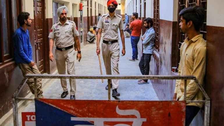 Inside a temporary jail set up by Bhatinda police on April 8