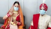 Coronavirus effect: Two couples in Mohali get married with masks on, handful of guests
